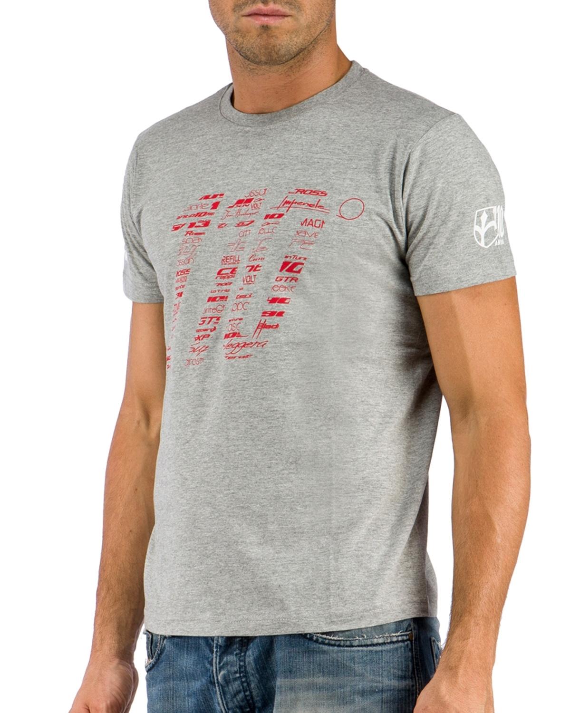 triko krátký rukáv WILIER 110 šedé