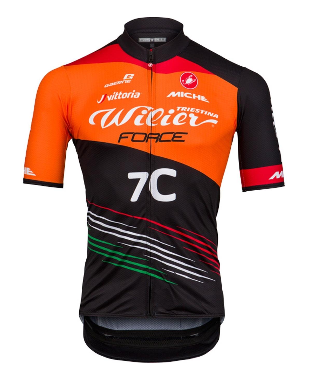 dres WILIER FORCE 2019  krátký rukáv, oranžový