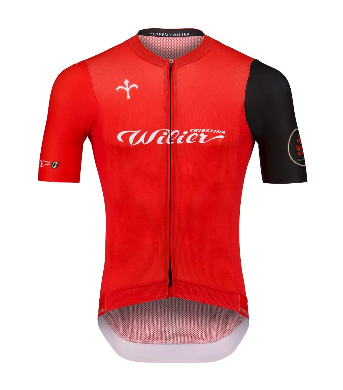 dres WILIER CLUB krátký rukáv, červený