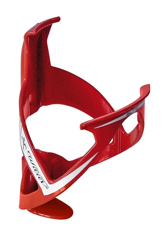 košík láhve WILIER plastový, červený-bílý lesk