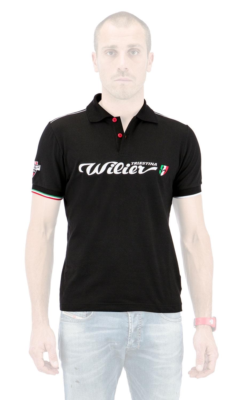 polokošile-triko POLO SQUADRA CORSE černé