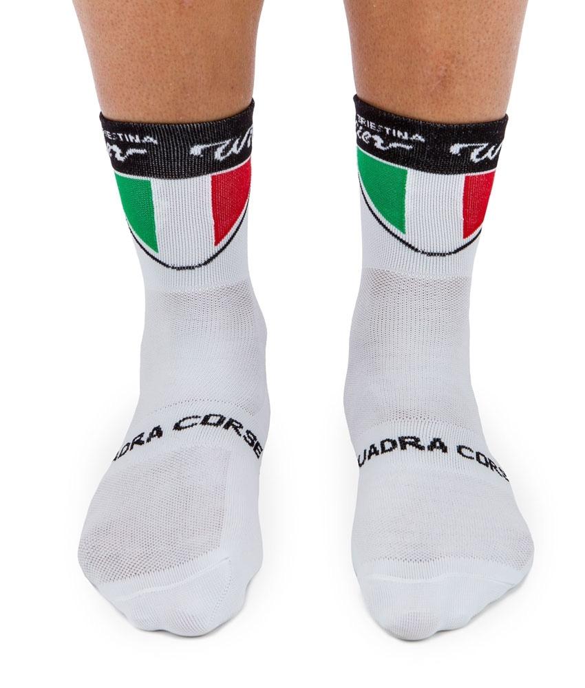 ponožky WILIER TRICOLORE bílo-červeno-zelené L-XL