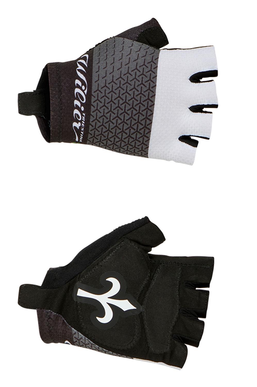 rukavice WILIER bez zapínání, černo-bílé