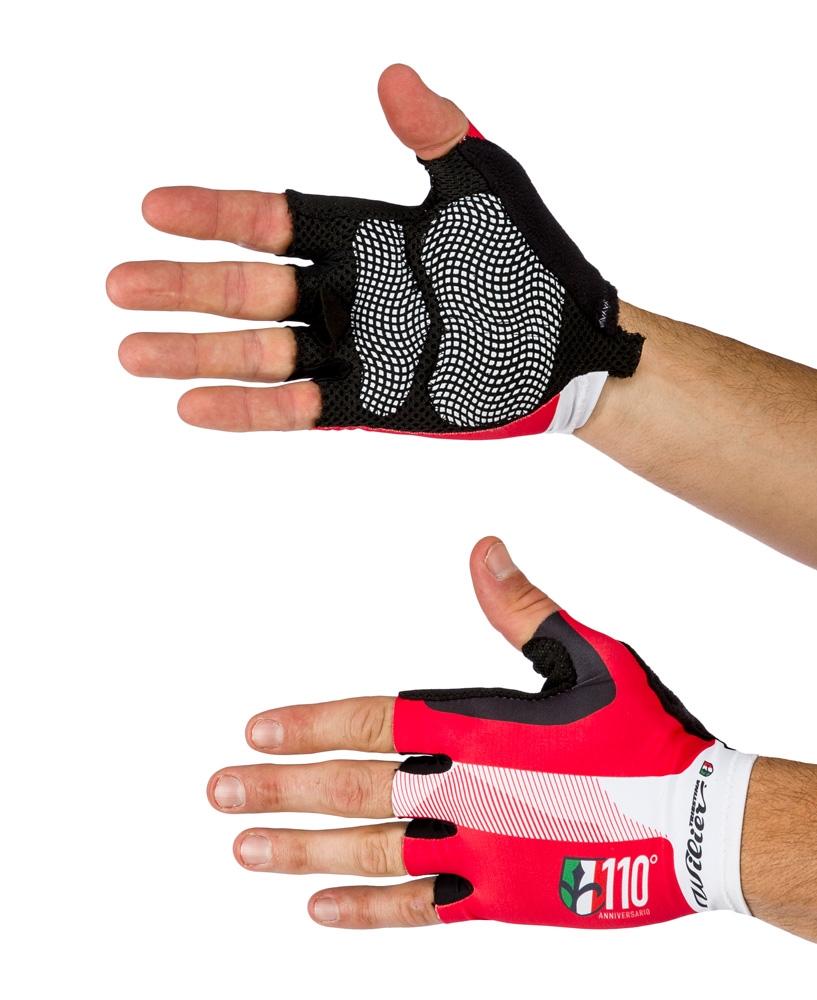 rukavice WILIER bez zapínání, červeno-bílo-černé