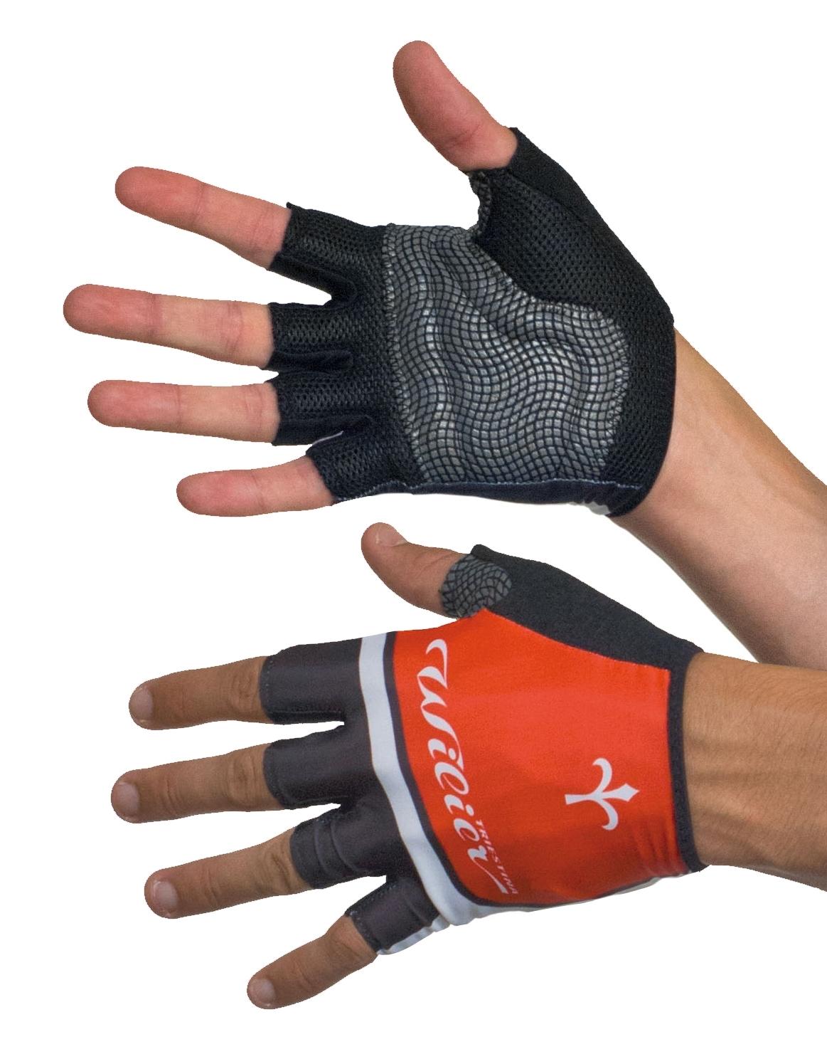 rukavice WILIER bez zapínání, červeno-černé L